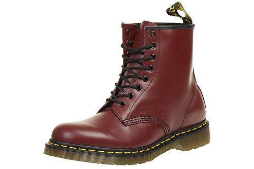 Dr. Martens 1460 Glatt, Erwachsene Unisex Stiefel,, Rot (Cherry Red), 43 EU