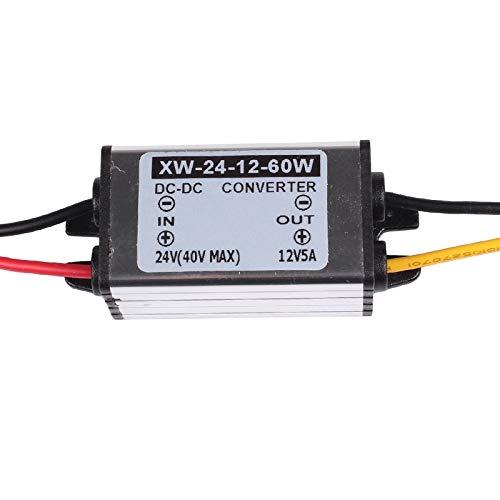 EBILUN DC 24 V a 12 V reductor convertidor regulador 5 A 60 W adaptador de fuente de alimentación