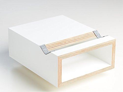 Fahrrad Wandhalterung - Hikee weiß in modernem Design - Fahrradregal aus Holz - 24 x 30 x 11 cm