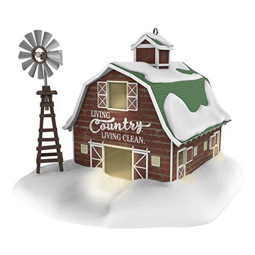 Hallmark Keepsake Christmas 2019 Year Dated Clean Country Living Barn and Windmill Farm Ornament