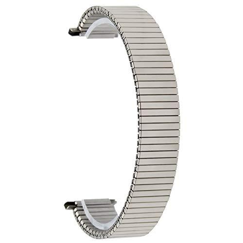GO-AHEAD Correas reloj, 18 mm 19 mm 20 mm 21 mm 22 mm elástico banda de reloj universal de expansión correa de reloj pulsera de acero inoxidable Correa + barras del resorte + Herramienta Acero inoxida