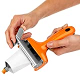 Big Squeeze Tube Squeezing Tool – Waste Less, Save More – Professional-Grade Metal Tube Squeezer, Ideal for Artists and Stylists – Works with Paint, Hair Dye, Prescription Creams, Cosmetics (Orange)