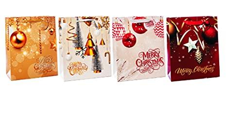 Bolsa de regalo de papel de 18 x 10 x 23 cm, 4 decoraciones