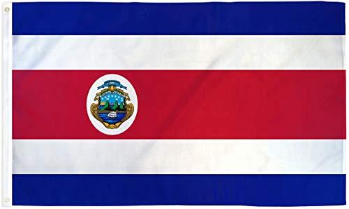 GYUB 3x5 Bandera de Costa Rica Bandera del País de Costa Rica Banderín Centroamericano Bandera