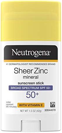 Neutrogena Sheer Zinc Oxide Mineral Sunscreen Stick with Vitamin E Broad Spectrum SPF 50 UVA product image