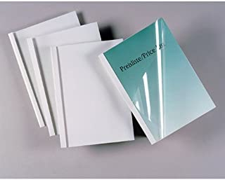 GBC Standard Thermal Binding Covers, 3 mm, 30 Sheet Capacity, A4, White, Pack of 100, IB370021