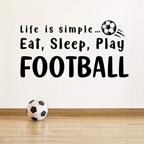 """Wandtattoo mit Fußball-Motiv \""""Eat Sleep Play Football\"""", für Küche, Liverpool FC"""