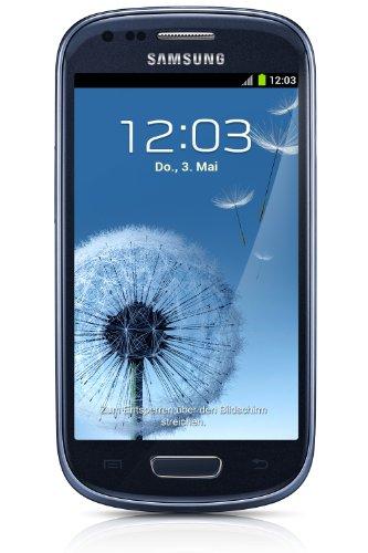 Samsung Galaxy S3 mini I8190 Smartphone, Display Super AMOLED da 10.2 cm (4 Pollici), Memoria Interna 8 GB, Fotocamera 5 Megapixel, Wi-Fi, Android 4.1, Blu [Germania]