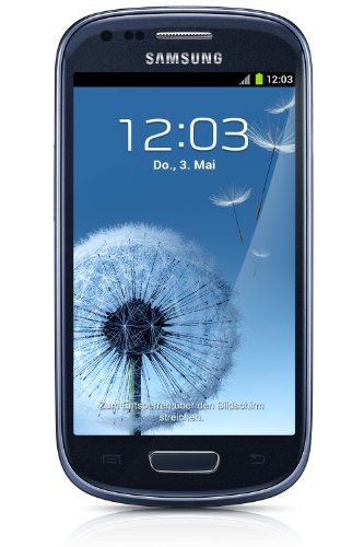 Samsung Galaxy S3 mini I8190 Smartphone (10,2 cm (4 Zoll) Super AMOLED Display, 8GB interne Speicher, 5 Megapixel Kamera, WiFi, NFC, Android 4.1) pebble-blue