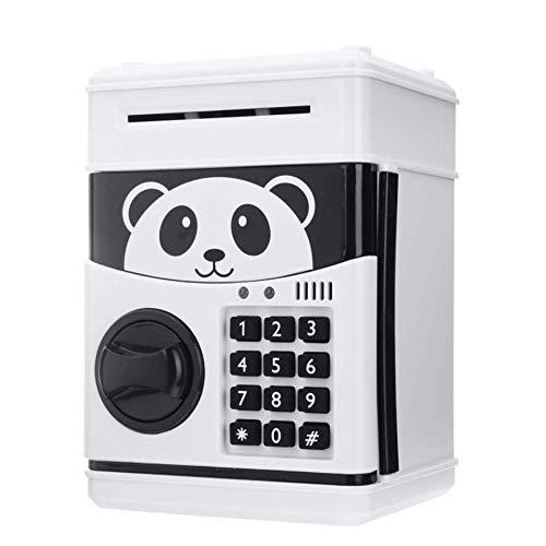 ZYYH Panda de 7.7'Hucha electrónica, contraseña de cajero automático, Caja de Dinero, Monedas, Caja de Ahorro, Caja Fuerte, depósito automático, Billetes, Regalos de cumpleaños, Regalos de jugue