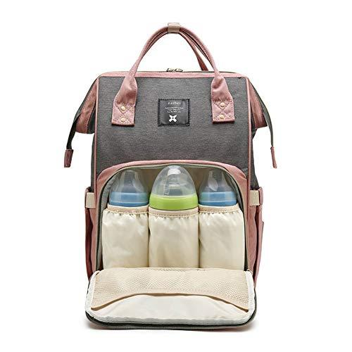 LORAER Qianer マザーズバッグ ママバッグ マザーズリュック ベビーカーに掛ける バックパック 多機能 保温ポケット付き 大容量 防水 人気 おむつ/ボトル/粉ミルク/おもちゃ/ワイプ 出産祝い 出産準備