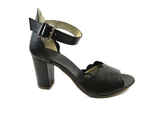 Sandalo Vintage con Tallone Coperto E Laccio Caviglia 37, Nero MainApps