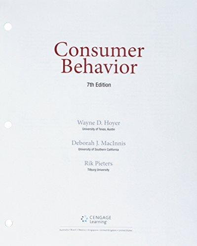Bundle: Consumer Behavior, Loose-Leaf Version, 7th + MindTap Marketing, 1 term (6 months) Printed Access Card