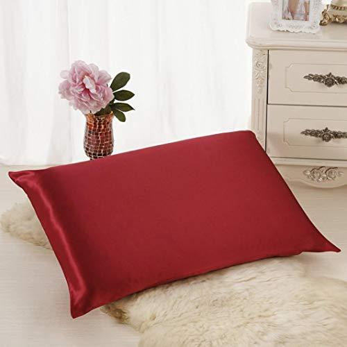 Lenfesh Taie d'oreiller Rectangulaire 50x30cm Coton Uni