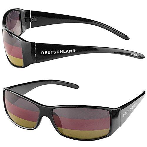 Taffstyle® Fanartikel Sonnenbrille Fan Brille zur Fussball Weltmeisterschaft WM & EM Europameisterschaft 2016 Länder Flagge Style - Deutschland