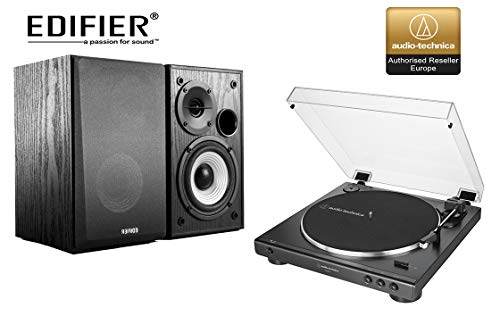 Audio-Technica AT-LP60 Turntable and Edifier R980T Active Speaker Package...