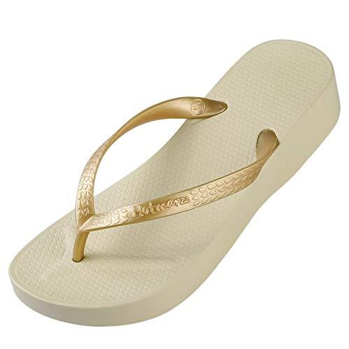 WDDNTX Slippers met hoge hakken, plateau, strand, slippers