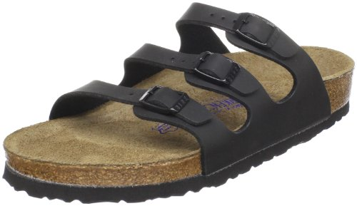 Birkenstock Women's, Florida Soft Footbed Sandal Black 38 M