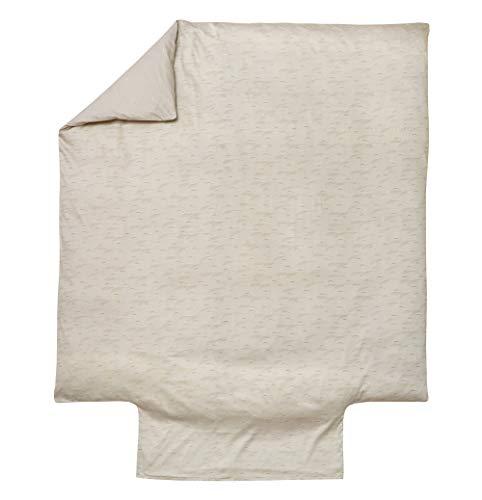 Blanc des Vosges Riziere Chanvre Housse de Couette 260 x 240 cm - Percale 100% Coton 80fils/cm²