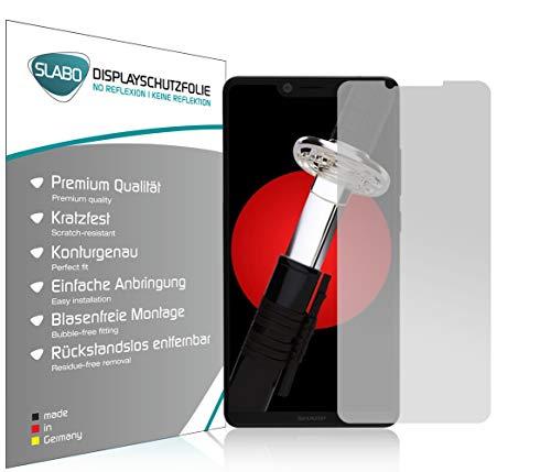Slabo 4 x Bildschirmschutzfolie für Sharp Aquos D10 Bildschirmfolie Schutzfolie Folie Zubehör No Reflexion MATT