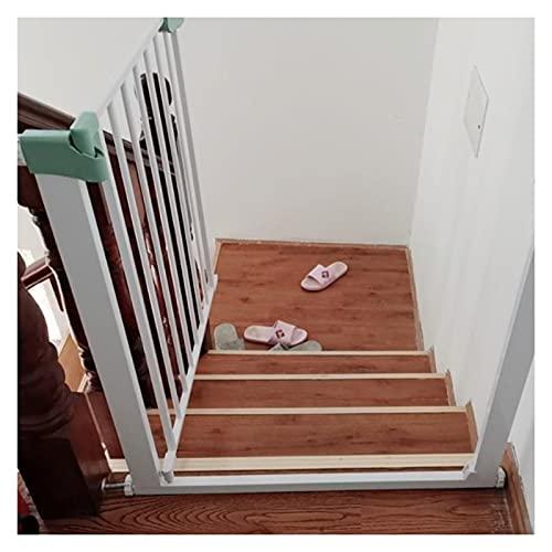 Puerta Interior para Bebés, Magnético Puertas De Seguridad para Niños por Portales Pasillos Hueco De Escalera, Valla De Barrera Divisoria por Perros, Extensible (Color : White, Size : 135cm-142cm)