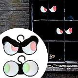 Acptxvh Proyección Mindscope Jabberin de Halloween Jack Brillantes Ojos de la lámpara de la lámpara de Halloween Hierba Bush lámpara de luz LED,Verde