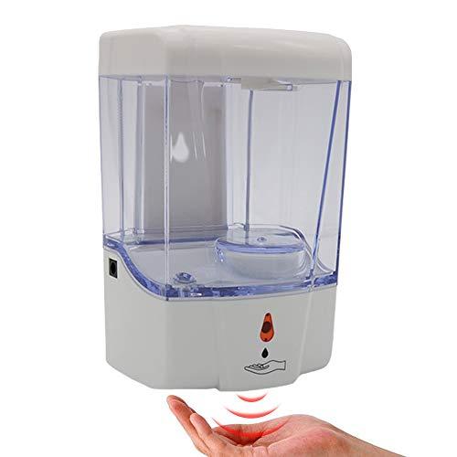700ML Dispenser Sapone Liquido Automatico Muro Plastica Dispenser per Disinfettante per Le Mani Touchless Sensore a infrarossi Pompa per Lozione del Sapone del Piatti per Cucina Bagno Home