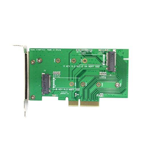 ULIAN SATA M.2 NGFF SSD Adapterkarte PIC-E SATA Einsatz für XP941 SM951 M6E M6G
