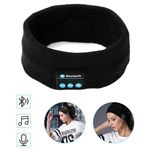 Schlaf Kopfhörer Ohrstöpsel yidenguk Bluetooth V4.2 Sport Stirnband Kopfhörer mit Lautsprecher,Perfekt für Sport, Seitenschläfer, Flugreisen, Meditation und Entspannung