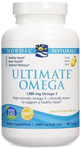 Nordic Naturals Ultimate Omega, 1,280 mg Fish Oil, 180 Soft Gels