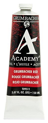 Grumbacher Academy Oil Paint, 150 ml/5.07 oz, Grumbacher Red