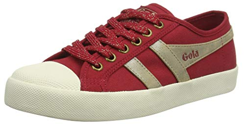 Gola Damen Coaster Mirror Sneaker, Rot Deep Red Gold Off White Ry, 37 EU