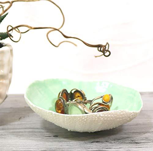Keramunzel KERA-Mystic Schale Seeigel aus Porzellan naturell und elementar Handmade Nr: 077 naturell und elementar Kunstwerk von Rea Bien