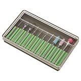 10 unids/set, brocas para uñas, broca para máquina de esmalte de uñas, salón de uñas para amoladora electrónica para uso personal de taladro eléctrico(Grinding head set BH-05)