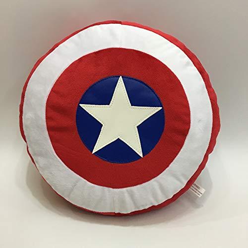 Lily&her friends - Cuscino per divano con logo Avengers Capitan America, cuscino per divano, cuscino in peluche anime e bambole, cuscino decorativo, regalo per famiglia, amici e bambini, 30 x 30 cm