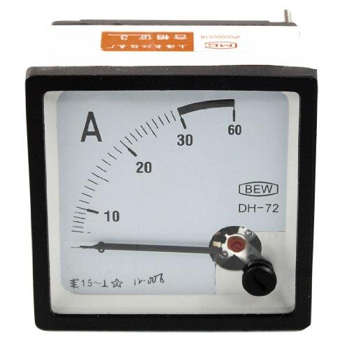 AC DC 0–30A Klasse 1,5Genauigkeit Analog quadratisch Panel Meter Amperemeter DH72 de