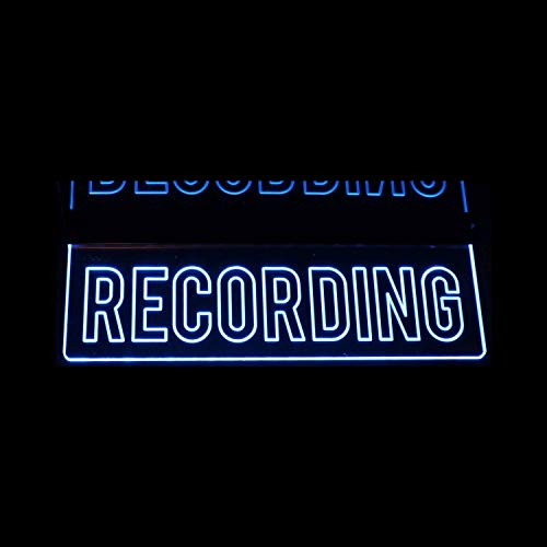 Recording Desk, Ceiling, or Flat to Wall Mount Home Studio Room In Session Acrylic Lighted Edge Lit Sign 12-21' 15-30 Leds 9 Foot Cord Mirr Light Up Plaque Full Size 1363 Made in the USA