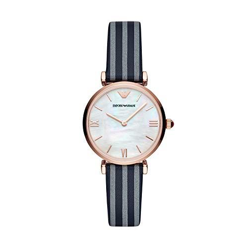 Emporio Armani Damen Analog Quarz Uhr mit Leder Armband AR11224