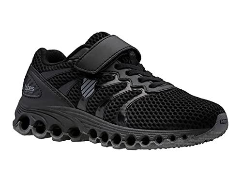 K-Swiss Boy's Tubes Comfort 200 Strap Training Shoe Cross Trainer, Black/Charcoal, 11 Little Kid