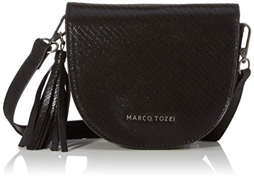 MARCO TOZZI Damen 2-2-61002-23 Umhängetasche, Schwarz (Black Met.STR.), 5x14x16.5 cm