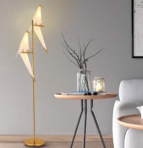 K.lSX vloerlampen voor woonkamer moderne, creatieve metalen vloerlamp (gouden kleur)
