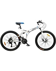 Fitness Minutes Folding Bike, White, FM-F26-04S-WH