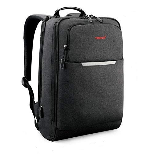Tigernu - Zaino antifurto per computer portatile, da viaggio, scuola, lavoro, modello A, colore: Nero