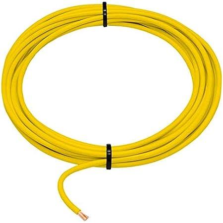 5m Flry Fahrzeugleitung Gelb 1 5mm Rund Kabel Litze Kfz Stromkabel Beleuchtung