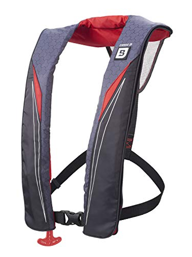 Bluestorm Gear Cirrus 26 Inflatable PFD Life Jacket (Nitro Red) | US Coast Guard Approved Automatic/Manual Life Vest for Adults
