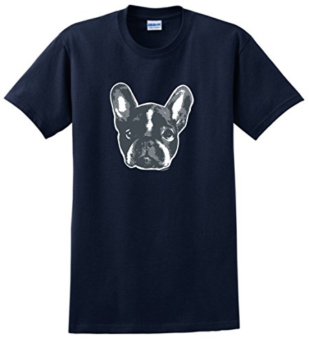 ThisWear French Bulldog Calendar French Bulldog Gifts Frenchie Face Funny Bulldog T-Shirt XL Navy