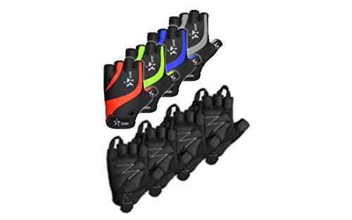 Sikma Guantes de ciclismo sin dedos medio dedos Guantes antideslizantes, color negro/gris, tamaño small