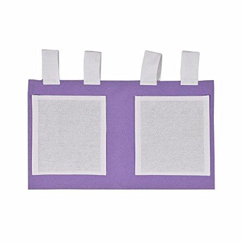 XXL Discount D&S Vertriebs Sac de rangement pour lit d'enfant Violet/blanc 48 x 30 cm 100 % coton