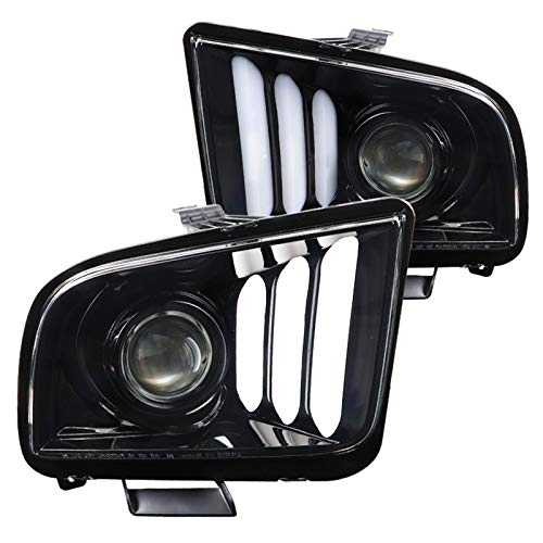 08 mustang black headlights - 6