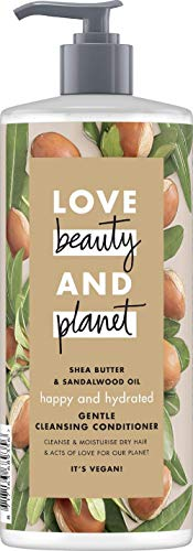 Love Beauty And Planet Happy & Hydrated Gentle Cleansing Conditioner, für trockenes Haar Sheabutter & Sandalwood Oil silikonfrei, 1 Stück (500 ml)